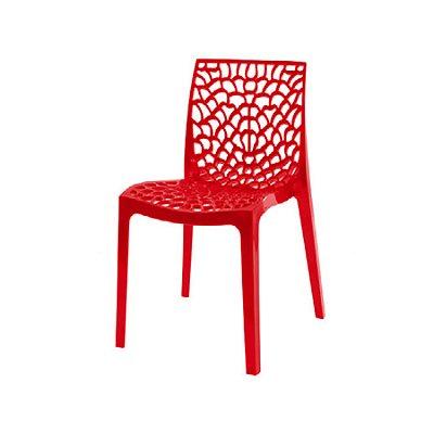 Cadeira Design Fratini Gruvier Vermelho Ambiente Externo e Interna Cozinhas Salas Restaurantes
