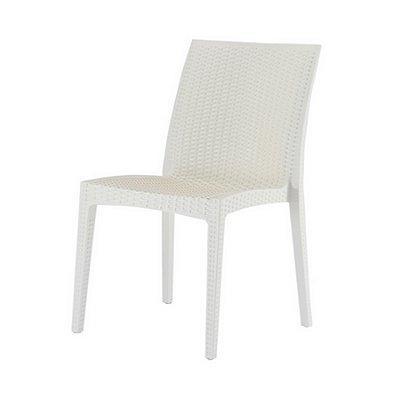 Cadeira Design Vime Fratini Ibiza Marfim Ambiente Externo e Interna Cozinhas Tramas tipo Rattan Varandas Salas