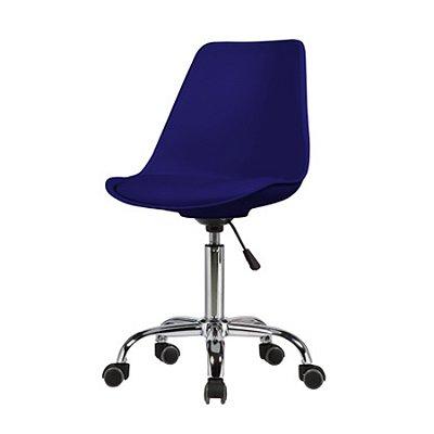 Cadeira Design Fratini Saarinen Office Eames Eiffel Rodizio Azul Marinho Quartos Chicago