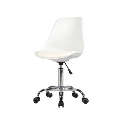 Cadeira Design Fratini Saarinen Office Eames Eiffel Rodizio Branco Quartos Chicago
