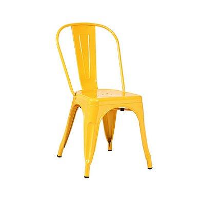 Cadeira Design Tolix Iron Francesinha Xavier Pauchard Amarelo Cozinhas Berlin Fratini