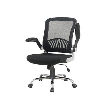 Cadeira Escritorio Fratini Office Rodizio Londres Cinza Giratoria Diretor Com Braços