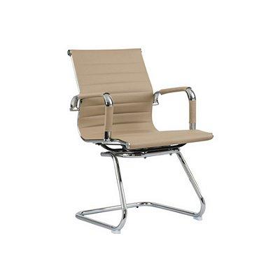 Cadeira Escritorio Fratini Office Rodizio Manhattan Eames Fendi Cromado Fixa Diretor Com Braços