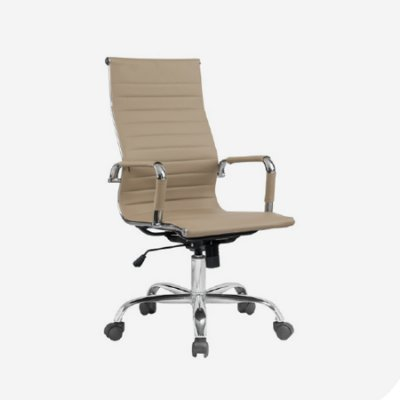 Cadeira Escritorio Fratini Office Rodizio Manhattan Fendi Eames Cromado Giratoria Presidente Com Braços