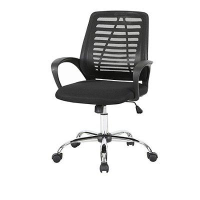 Cadeira Escritorio Fratini Office Rodizio Toronto Preto Eames Cromado Giratoria Presidente Com Braços