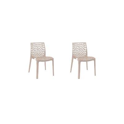 Kit 2x Cadeira Design Fendi Vermelho Externa e Interna Cozinhas Salas Restaurantes Fratini