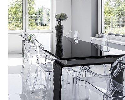 Kit 2x Cadeira Design Louis Ghost Transparente Incolor Moderna Cozinhas Salas Jantar Viena Fratini