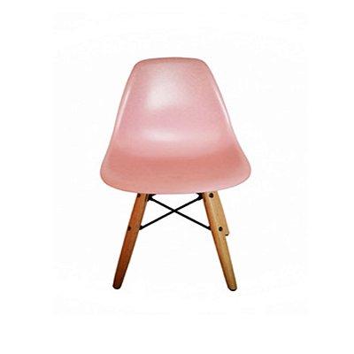 Kit Cadeira Design Eames Eiffel Kids Infantil Rosa DAR Ray Pes Madeira Florida Assento Polipropileno Fratini