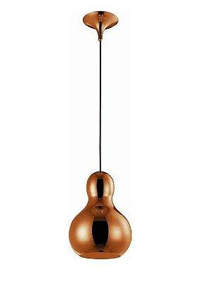 Pendente Mantra Co Bell Pendurado Sino Alumínio Vidro Bronze 36x21cm 1 E27 40W 110v 220v Bivolt 30370 Cozinhas Sala de Jantar Quarto e Cozinha