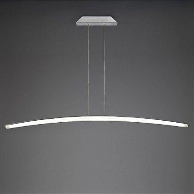 Pendente Mantra Co Hemisferic LED Contemporâneo Acrílico Metal 111x11cm LED 28W 110v 220v Bivolt 4090 Sala de Jantar Quarto e Cozinha