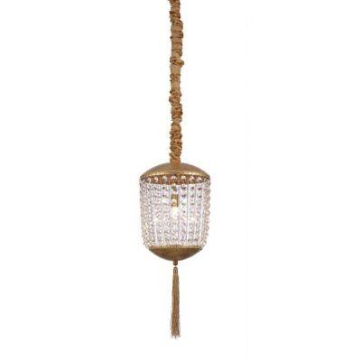 Pendente Mantra Co Roma Folhas de Ouro Cristal K9 Translúcido 48x21cm 1 G9 Halopin 40W 110v 220v Bivolt 30442 Sala de Jantar Quarto e Cozinha