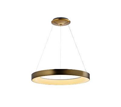 Pendente Mantra Co Sacris Gold LED Disco Metal Ouro Velho 150x65cm 1x LED 50W 110v 220v Bivolt 30512 Sala de Jantar Quarto e Cozinha