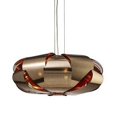 Pendente Mantra Co Stark Redondo Moderno Metal Cobre 25x60cm 3x E27 24W 110v 220v Bivolt 30348 Sala de Jantar Quarto e Cozinha