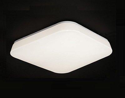 Plafon Mantra Co Quatro LED Quadrado Sobrepor Acrílico Leitoso 9,5x24,5cm 1 LED 10W 3000K 3767 Cozinhas Sobrepor Sala Quarto e Cozinha