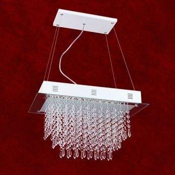 Lustre Retangular Espelhado Cristal K9 Asfour 30x45 Prisma Mr Iluminação G9 2357-p-pd Saguão e Quartos