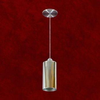 Mini Pendente Tubular Alumínio Cromado Espelhado 12x24 Mariany Mr Iluminação 2249-esp Cozinhas e Salas