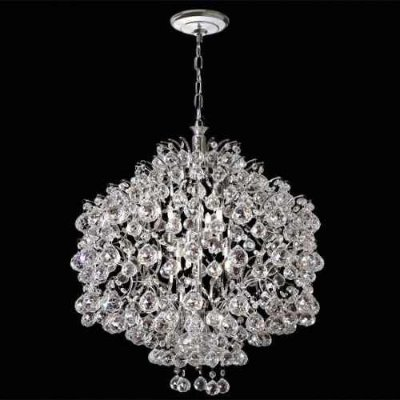 Pendente Design Moderno Colmeia Esfera Cristal K9 Translúcido 10 Lamp. Ø80 Mr Iluminação E-14 2397-80-ls Quartos e Hall