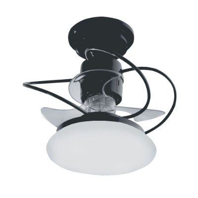 Ventilador Treviso Ind Lustre Atenas Preto com Luminaria Controle Remoto Sala Quarto Cozinha Loja  TRV24