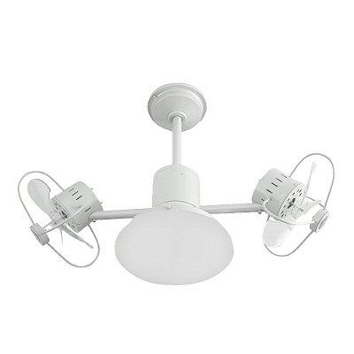 Ventilador Treviso Ind Lustre Infinit Plus Branco com Luminaria Quarto Infantil Sala Cozinha Loja  TRV47