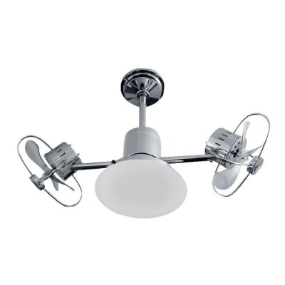 Ventilador Treviso Ind Lustre Infinit Plus Cromado com Luminaria Led Sala Quarto Cozinha Loja 18w  TRV53