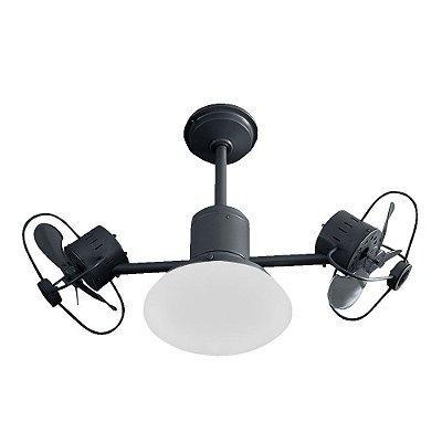 Ventilador Treviso Ind Lustre Infinit Plus Preto Controle Remoto com Luminaria Sala Quarto  TRV56