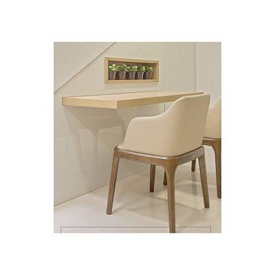 2x Cadeira Trendhouse Madeira Natural Carvalho Americano Castanho Escuro Assento Encosto Estofado Couro Creme Oslo