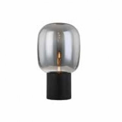Abajur Newline Imports FUME AB1245-FM Esfera VIDRO Alumínio 1XE27 40W 25X42,5CM Sala Quarto Casal Mesas
