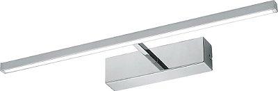 ARANDELA Newline Imports Espelho e Quadro AR803 Ø 4,5x45,2X12,5 LED 8W 3000K CROMADO Paredes Muros Banheiros Salas Quartos