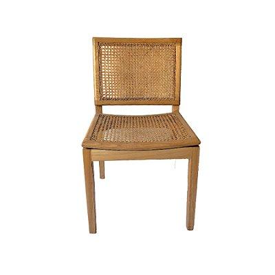Cadeira Trendhouse Jantar Madeira Natural Carvalho Claro Assento Encosto Palha Natural