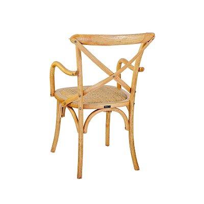 Cadeira Trendhouse Madeira Natural Carvalho Americano Braços Cor Claro Assento Palha Trançada