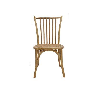 Cadeira Trendhouse Madeira Natural Carvalho Americano Claro Assento Palha Trançada Ranch