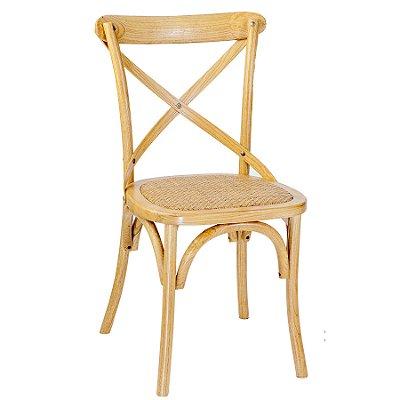 Cadeira Trendhouse Madeira Natural Carvalho Americano Cor Claro Assento Palha Trançada