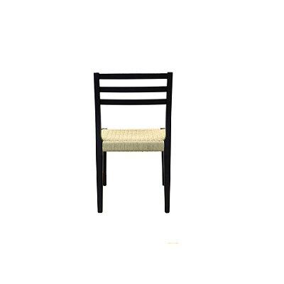 Cadeira Trendhouse Madeira Natural Olmo Preto Assento Claro Fibra Natural Tramada Urca