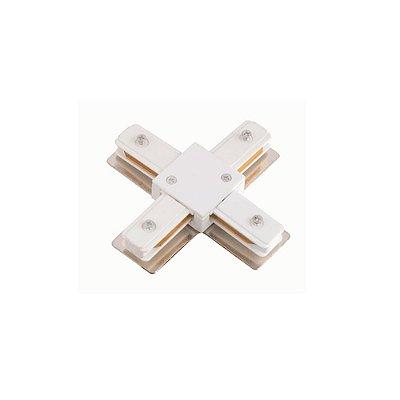 CONECTOR Quality Iluminação Alumínio X PARA TRILHO ELETRIFICADO BRANCO QCN909-BR