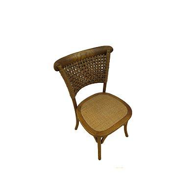 Kit 2x Cadeira Trendhouse Madeira Natural Carvalho Castanho Escuro Encosto Fibra Assento Palha Trançada Vegara