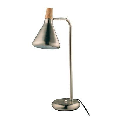 LUMINÁRIA MESA Quality Iluminação QLM1064-AE Articulada Cupula  Alumínio AÇO ESCOVADO 1XG9 40W 12,5X49CM Sala Quarto Casal Mesas