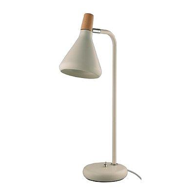 LUMINÁRIA MESA Quality Iluminação QLM1064-BR Articulada Cupula  Alumínio BRANCA 1XG9 40W 12,5X49CM Sala Quarto Casal Mesas