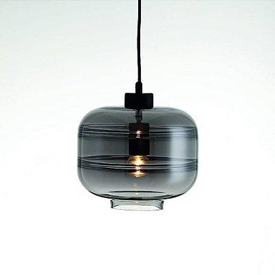 PENDENTE Newline Imports PD1274-FM VIDRO Cupula Estilo Antigo Filamento FUME 1XE27 40W 25X25,2CM Sala de Jantar Quarto e Cozinha