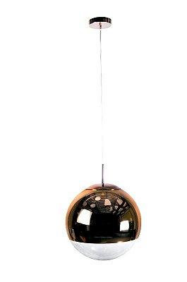 PENDENTE Newline Imports PD945 Alumínio Vertical Esfera Cobre VIDRO 1XE27 40W Ø40CM Sala de Jantar Quarto e Cozinha