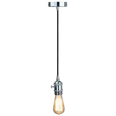 PENDENTE Newline Imports PD963-CR Vertical Estilo Antigo Filamento Alumínio Metal 1XE27 40W 4,7X10,4CM CROMADO Sala de Jantar Quarto e Cozinha