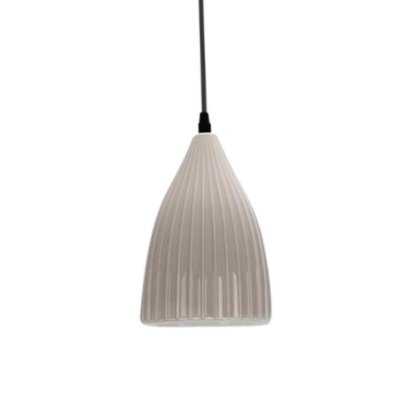 PENDENTE Quality Iluminação QPD1206-CZ  Vertical Sino CERAMICA CINZA 1XE27 40W 14X20CM Sala de Jantar Quarto e Cozinha