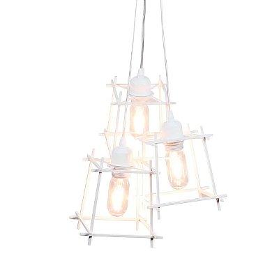 PENDENTE Quality Iluminação QPD1285-BR Triplo Aramado Estilo Antigo Filamento BRANCO 3XE27 40W 31X40CM Sala de Jantar Quarto e Cozinha