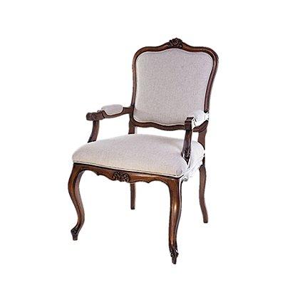 Poltrona Trendhouse Cadeira Trendhouse Luiz Vx Francês Madeira Natural Jequitibá Escuro Assento Linho Estofado Encosto Palha LISBOA