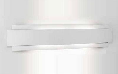 Arandela Newline Iluminação Courbe Curvo Sobrepor Metal Branco 59x12,2cm 3x PCI LED 6W 337LED1BT Parede Muro Banheiro Sala