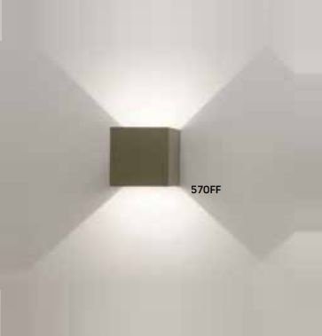 Arandela Newline Iluminação Cubo Sobrepor Facho Regulável Metal 10x10cm 1x LED 6W 3000K Bivolt 110v 220v 570FF Parede Muro Banheiro Sala
