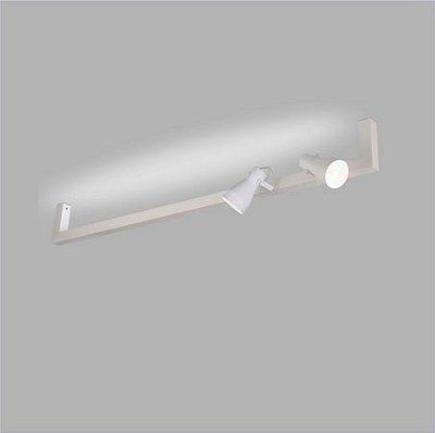 ARANDELA Trilho Usina Design PERFIL U 45mm 02 SPOTS 16381/130 01 T8 120Cm 02 PAR20 1300x220x120