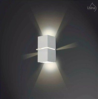 Arandela Usina Design Amb. Externo Tubo Quadrado Fosco Metal Fachos de Luz 10x18 Kiara G9 5225/18 P Garagens Jardins