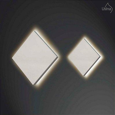 Arandela Usina Interna Quadrada Inox Slim Luz Indireta 35x35 Home  G9 255/35 Quartos e Salas