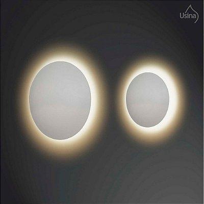 Arandela Usina Design Interna Redonda Curva Branca Luz Indireta Ø40 Eclipse G9 239/40 Banheiros Lavabos Escadas