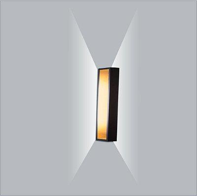 ARANDELA Usina Design PUCH RETANGULAR LED 5745/50 Sala Estar Banheiros Lavabos Quartos 2xPCI LED 5W 110 220V 500X51X100